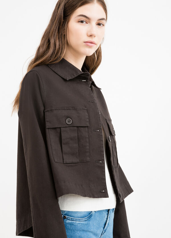 100% cotton jacket with double breast pocket   OVS