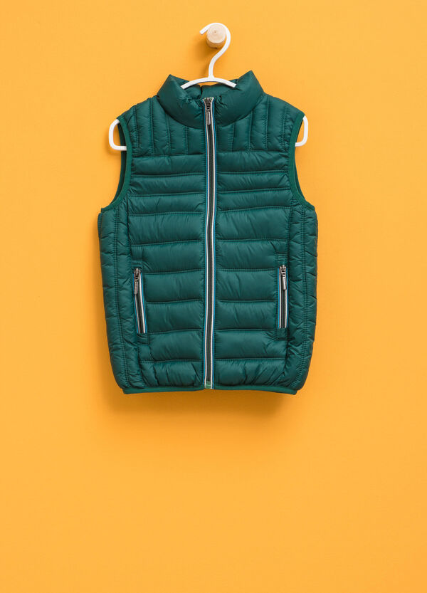 Quilted gilet with high collar | OVS