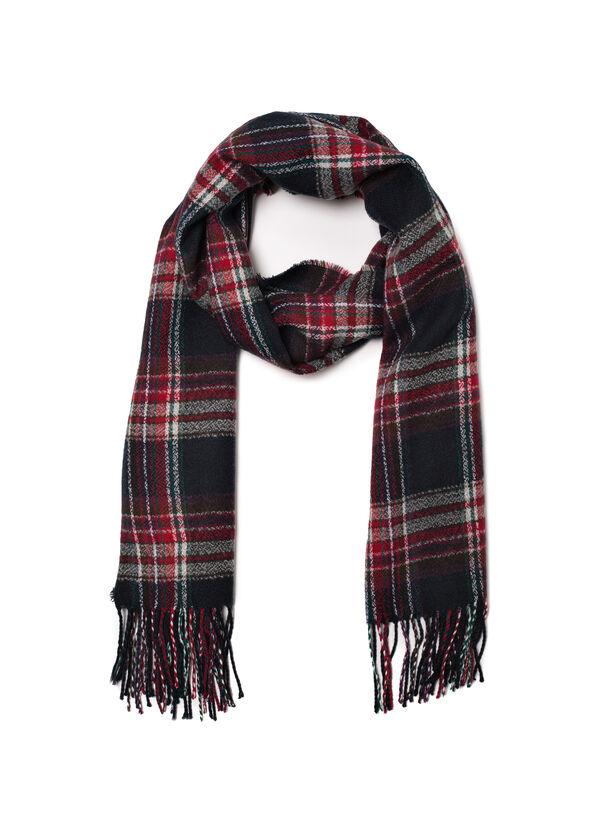 Tartan scarf with fringe | OVS