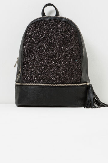 Glitter backpack, Black, hi-res