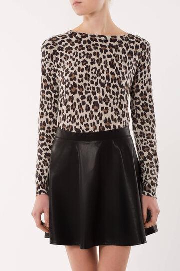 Animal print pullover, Grey, hi-res
