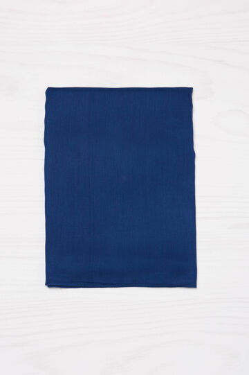 Solid colour viscose scarf, Blue, hi-res