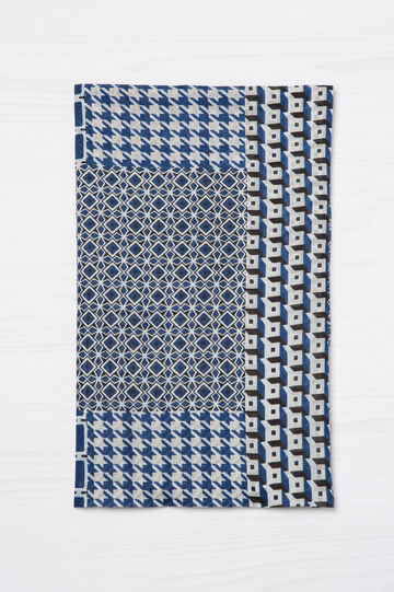 Geometric print cotton scarf