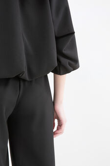Cropped stretch sweatshirt, Black, hi-res