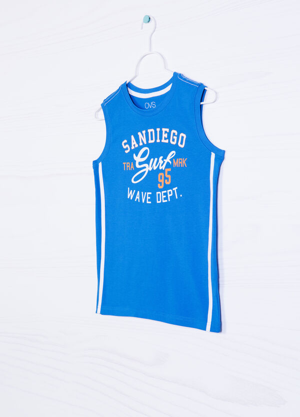 100% cotton vest top with lettering print | OVS