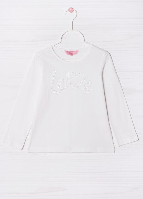 T-shirt puro cotone con ricamo | OVS