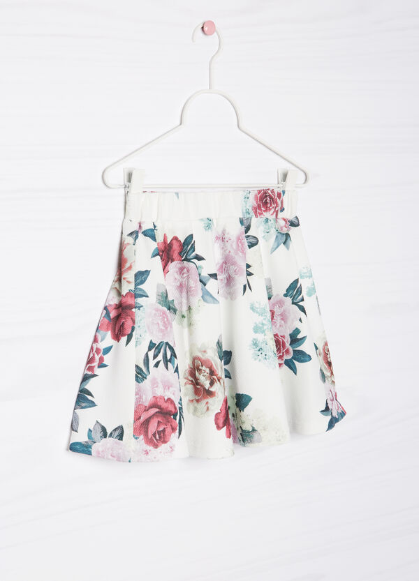 Stretch skirt with floral print | OVS