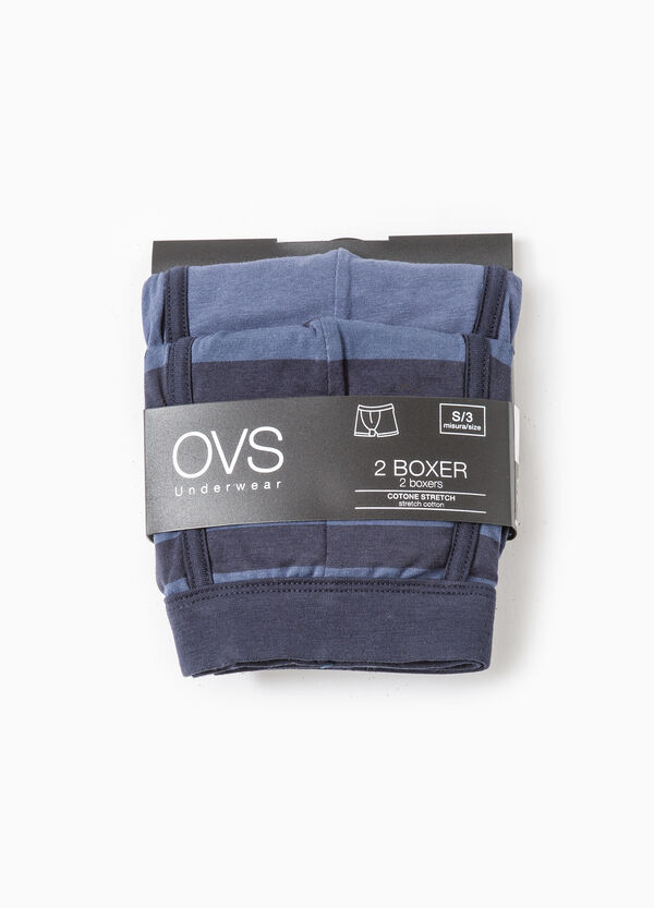 Two-pack boxer shorts striped and solid colour | OVS