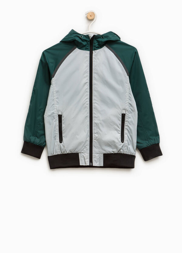 Jacket with ribbing and printed lettering | OVS