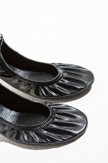 Ballerina flats with elasticated edge