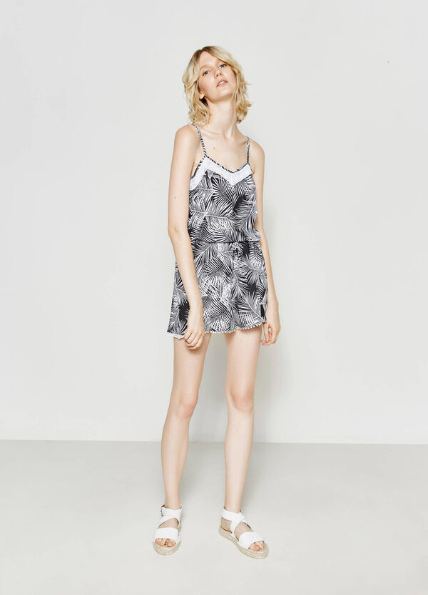 Playsuit in floral viscose | OVS