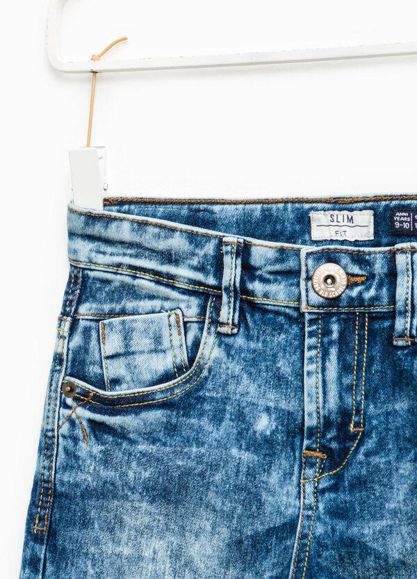 Jeans slim fit effetto maltinto | OVS