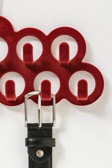 Portacinture tinta unita con ganci, Rosso, hi-res