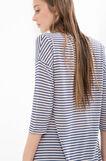 Striped 100% viscose long T-shirt, Blue/Pink, hi-res