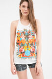 Cotton blend top with Maui and Sons print, White, hi-res