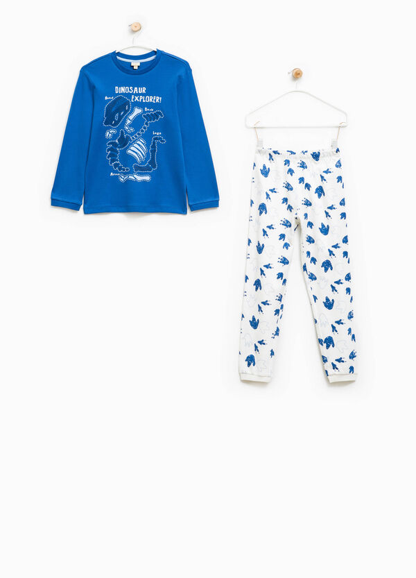 Pyjamas with footprint pattern and print | OVS