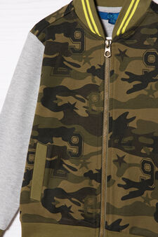 100% cotton camo trousers, Army Green, hi-res