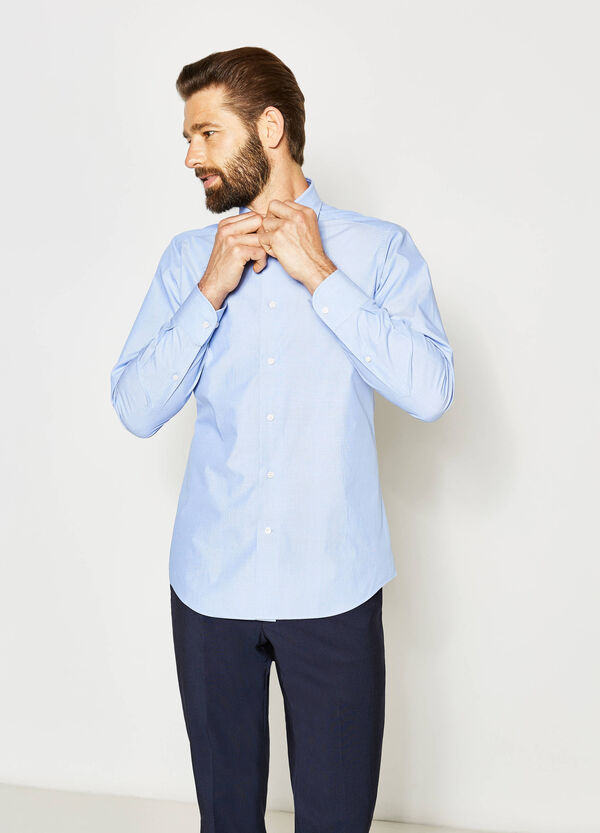 Slim-fit formal polka dot shirt | OVS