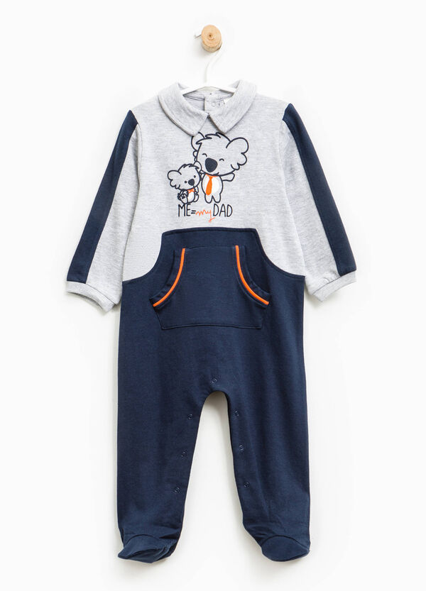 Pelele de pijama de algodón con estampado | OVS