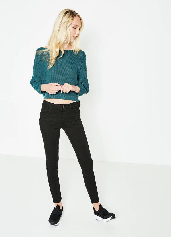Pantaloni push up stretch tinta unita | OVS