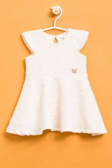Dress with sequins and pendant, Milky White, hi-res
