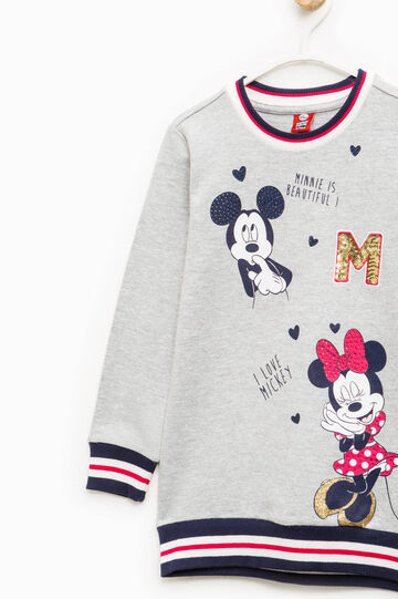 Mickey and Minnie Mouse dress, Light Grey Marl, hi-res