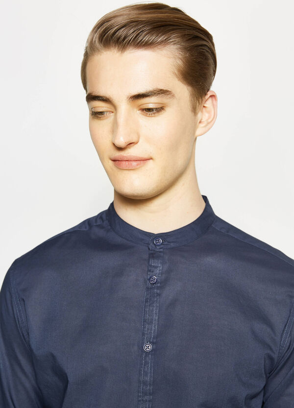 Slim-fit, casual shirt with Mandarin collar   OVS
