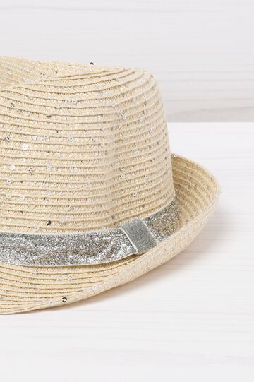 Hat with glitter sequins