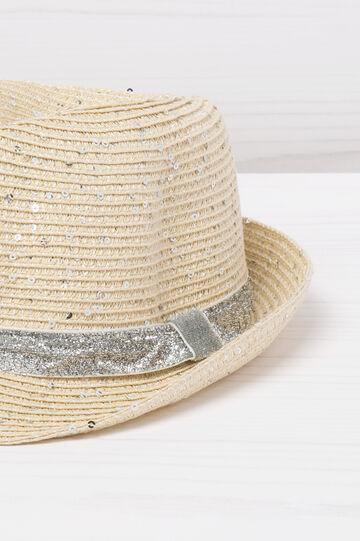 Cappello con glitter a paillettes