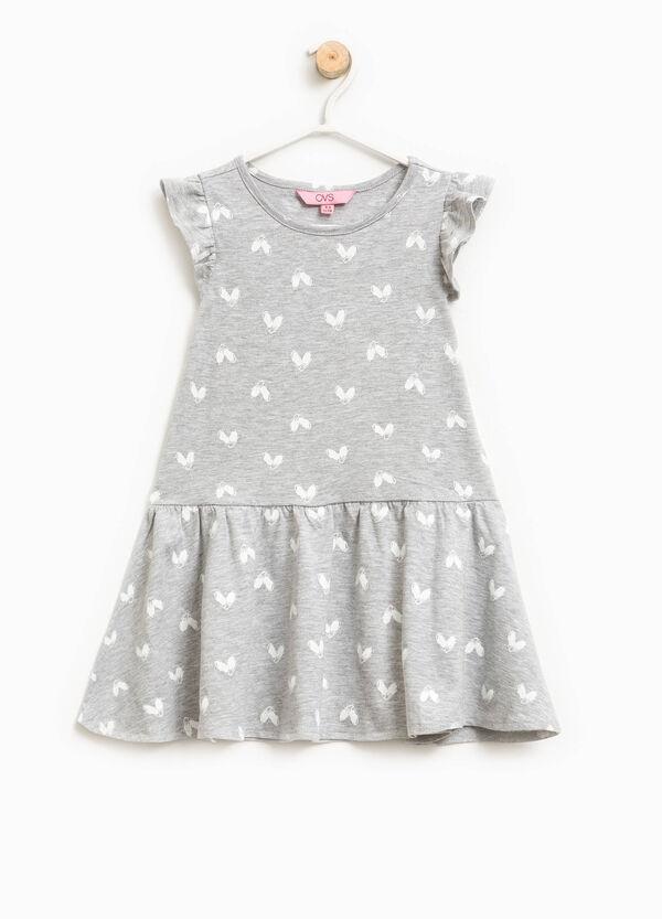 Heart patterned cotton dress | OVS