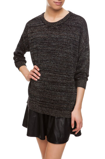 Pullover con lurex, Black, hi-res