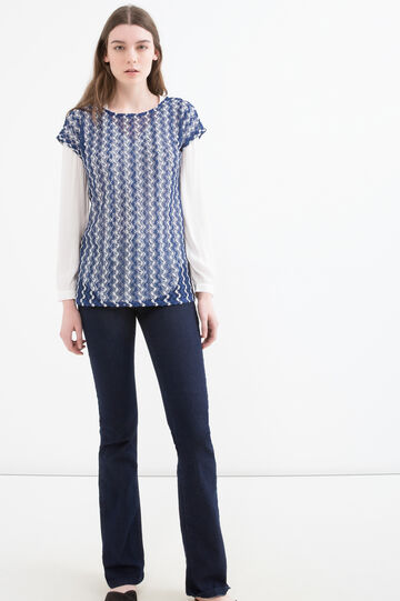 T-shirt with contrasting pattern