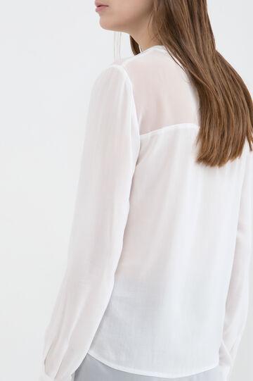 Blusa in pura viscosa, Bianco, hi-res