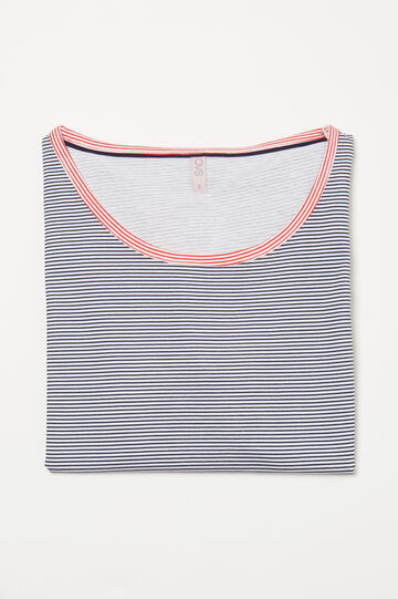 Pyjama top in striped cotton