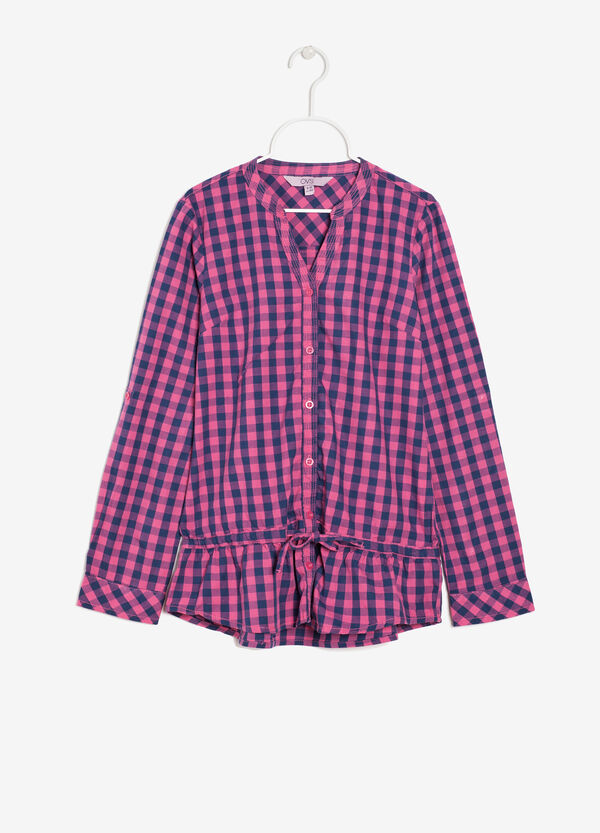 Checked shirt with flounce | OVS