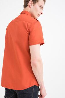 Camicia cotone tinta unita G&H, Arancione, hi-res