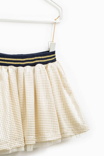 Skirt with tulle lining, Golden Yellow, hi-res