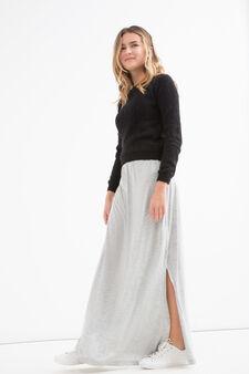 Teen solid colour pullover, Black, hi-res