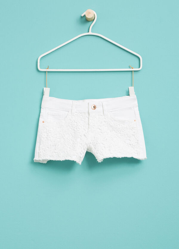 Shorts stretch con pizzo | OVS