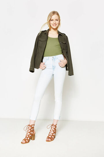 High-waist, skinny fit jeans