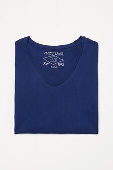 Solid colour pyjama top, Blue, hi-res