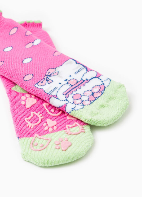 Slipper socks in embroidered cotton | OVS
