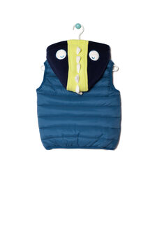 Quilted waistcoat, Blue, hi-res