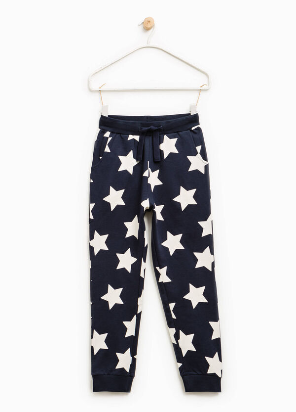 Cotton joggers with pattern | OVS