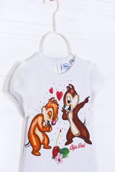 T-shirt cotone stretch Cip&Ciop, Bianco, hi-res