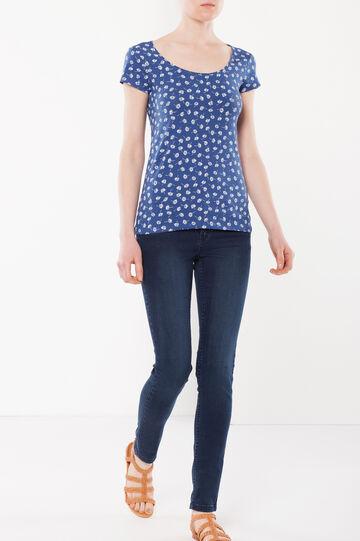 T-shirt con scollo rotondo, Blu avio, hi-res