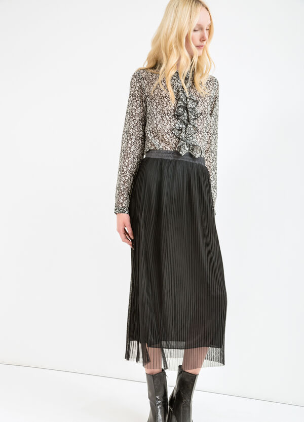 Pleated long skirt | OVS