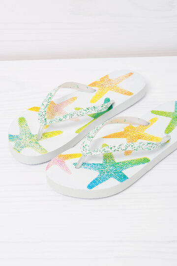 Patterned thong sandals, Green, hi-res