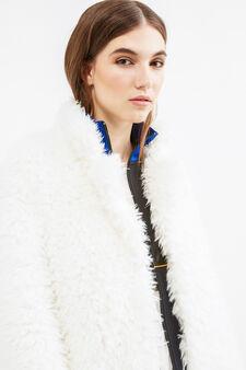 Faux fur jacket, White, hi-res