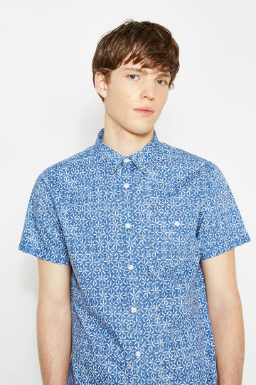 Printed casual shirt with short sleeves